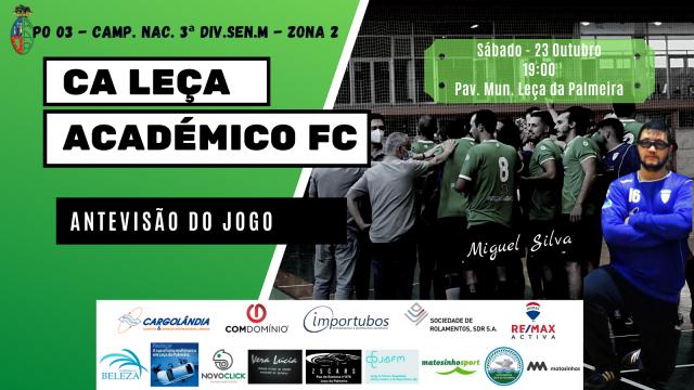 Seniores Masculinos do CALE iniciam Campeonato frente ao Académico FC