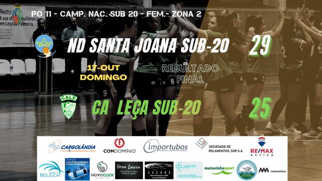 CALE perde em SUB-20 Femininos com o ND Santa Joana